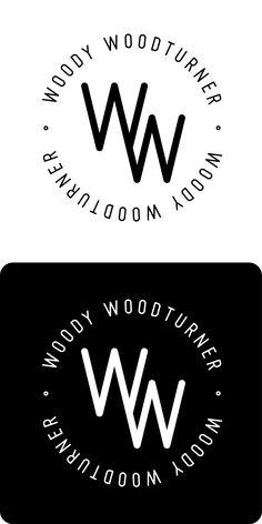 woody woodturner  woodworks · logo © ann maelfeyt