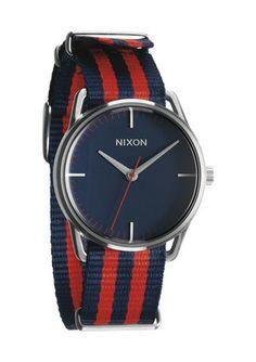 The Mellor - Navy / Red Nylon | Nixon