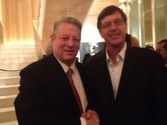 Grant Snyder with Al Gore at UCLA Institute for the Environment and Sustainability auction