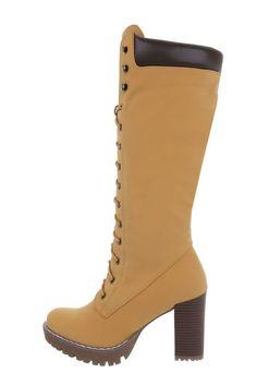 Dámske hnedé čižmy na hrubom vysokom opätku so šnúrovaním a bočným zapínaním na zips. Čižmy majú traktorkovú podrážku. Rubber Rain Boots, Booty, Ankle, Shoes, Fashion, Moda, Swag, Zapatos, Wall Plug