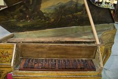 Clavicembalo/Gravicembalo - #antique musical instrument from #Mercanteinfiera