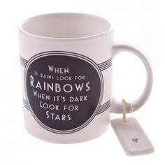 East of India Rainbows & Stars Porcelain Mug