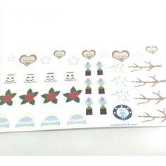 Achetez à prix mini le produit Planche de 35 stickers en papier motifs hiver cocooning - Livraison rapide, offerte dès 49,90 € !