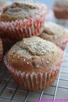 http://cuinantentrellibres.blogspot.com.es/ Magdalenes d'espelta integral