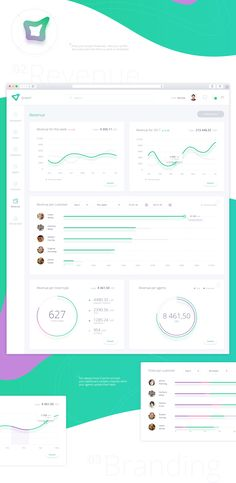 GreenY - Manage your business -Dashboard design on Behance