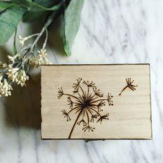 Dandelion Box pyrography