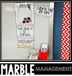 This classroom management tool can be used in many different ways.   Students can earn marbles throughout the day to earn different kinds of rewards. I have included 8 different marble amounts and 13 reward cards.  Set a goal for how many marbles the class can earn. I like to give my students three options for their reward and the students can vote for what one they like best! Once you have reached your goal, start all over with a new marble amount and reward!