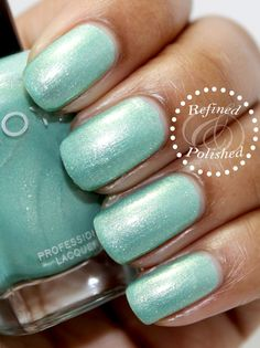 Today I have photos for you of the spring Zoya Awaken collection along with Monet, the top coat that was also released. The Awaken collection features two cremes and four shimmers in sha… Green Nail Polish, Pastel Nail Polish, Zoya Nail Polish, Shellac Nails, Green Nails, Nail Polishes, Manicures, Mint Nails, Girls Nails