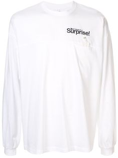 White cotton slogan long-sleeve top from doublet featuring a round neck, long sleeves, a chest pocket, a slogan detail and a relaxed fit. Doublet, Slogan, Size Clothing, Adidas Jacket, Long Sleeve Tops, Women Wear, Mens Fashion, Sweatshirts, Sleeves