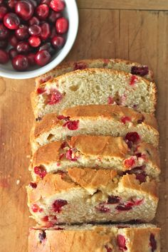 Eggnog Cranberry Bread - might pair well with Sam's drink and my side dish...food for thought (hah)