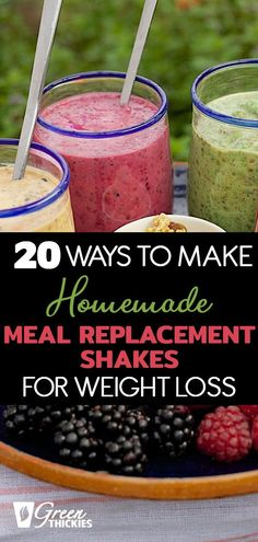 20 ingredients to add to your smoothies to turn them into meal replacement shakes. I lost 56 pounds with homemade weight loss shakes. This works because... Healthy Carbs, Healthy Smoothies, Smoothie Recipes, Healthy Recipes For Weight Loss, Clean Eating Recipes, Meal Replacement Shakes Homemade, Beef Recipes, Whole Food Recipes, Natural Protein