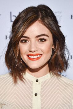 Lucy Hale attends her launch of 'BlowPro' at Hudson's Bay in Toronto, Canada   January 18th, 2016