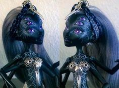 """""""Nieth"""" custom OOAK Wydowna Spider monster high doll by @LadySpoonArt"""