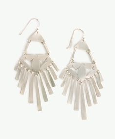 Handcut silver fringe dangles daintily for an exotic and elegant pair you'll want to wear with everything.