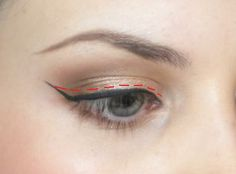 winged eye makeup | step 3 now you need to connect the wing back to the line along your ...