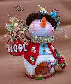 Christmas Time, Christmas Crafts, Christmas Decorations, Xmas, Christmas Ornaments, Holiday Decor, Snowman Crafts, Fun Crafts, Trick Or Treat