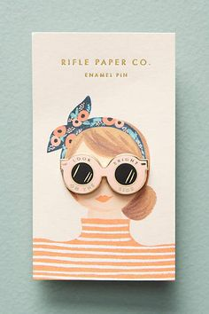 Rifle Paper Co. Lovely Enamel Pin #affiliatelink #homedecor