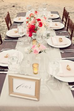 #table-numbers, #tablescapes, #peony  Photography: White Haute Photography - whitehautephotography.com Design + Planning: Joy de Vivre Event Design Boutique - joydevivre.net Floral Design: Modern Day Design - moderndaydesign.com  Read More: http://www.stylemepretty.com/2013/04/01/santa-barbara-wedding-from-joy-de-vivre-event-design-boutique-2/