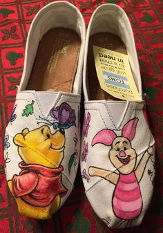 ac0ee79a7a42 winnie the pooh disney inspired Toms Artwork by Cherimorandesign