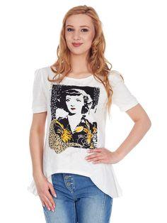 T-shirt z oryginalnym nadrukiem. Morgan 69 PLN #limango #t-shirt #shirt #prints #okazja #zakupy #sale #koszulka