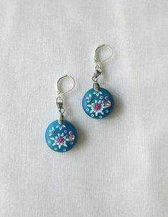 Little Blue  Green Earrings  something by StoriesMadeByHands, $34.00