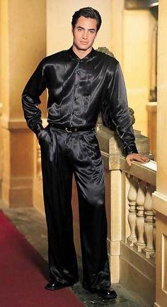 Satin Jumpsuit, Satin Shirt, Victor Webster, Tight Suit, Mens Leather Pants, Men In Heels, Suits, Well Dressed, Black Men