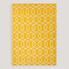 One of my favorite discoveries at WorldMarket.com: Yellow Bahari Flat-Woven Wool Rug