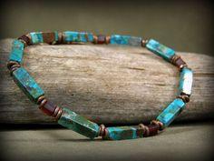 Bracelet for Men Mens Turquoise Bracelet Men's by StoneWearDesigns