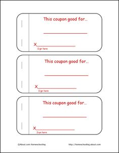 Printable Coupon Books For Kids  Printable Coupons Coupons And Books