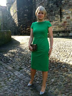 ponte dress from Boden for  an evening garden party at the exclusive Lancaster Castle