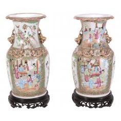 A PAIR OF CANTONESE VASES, SECOND HALF OF 19TH CENTURY