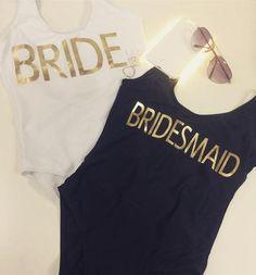 Bride, Bridesmaid, Hen Party Swimsuit - Black