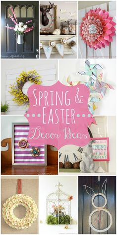 A collection of spring decor ideas to inspire you as you redecorate for the new season! { lilluna.com }