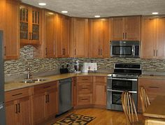 Cliqstudios Maple Caramel Kitchen Cabinets In The Dayton Style