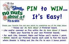 Are you ready to Pin It To Win It with Skeeter? ... Follow the rules while you play along for your chance to win!!