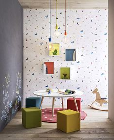 Small-Space Kids' Playroom Design Ideas Kids Room Ideas What would your child's playroom look like? You don't want to give them a theme based on furniture. Your children will enjoy their own little space, w. Playroom Design, Kids Room Design, Playroom Decor, Kids Decor, Home Decor, Playroom Ideas, Retro Furniture, Cheap Furniture, Kids Furniture