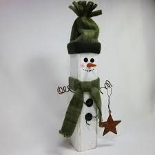 Image result for wooden snowmen
