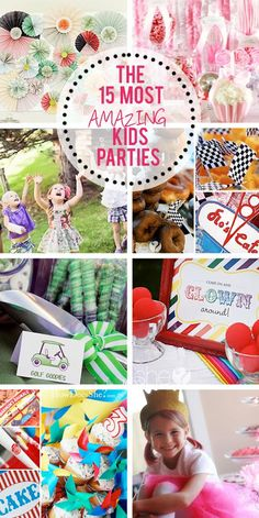 Check out the 15 most amazing kid parties!  They are so awesome! #kids #party #diy