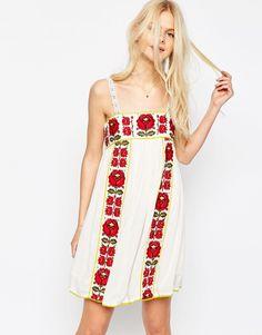Image 1 -ASOS Premium Embroidered Sundress