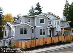 Craftsman House Plan 23580JD with side-entry garage  @adhhouseplans #readywhenyouare