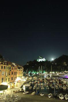 Portofino by night #italy #travel June 2013