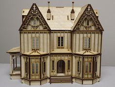 Laser Cut Kristiana Tudor Wood Dollhouse Kit 1/4″ Scale