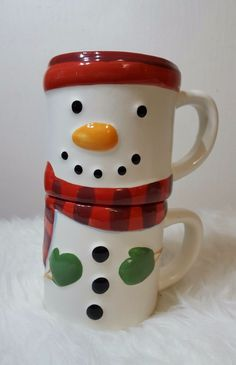 Hallmark - Stacked Snowman Coffee/Hot Chocolate  - 2 Cups = 1 Snowman Hallmark