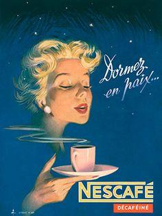 Cartel Nescafé años 60 – Anuncios vintage Nestlé                                                                                                                                                      Más