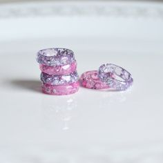 Jewelry OFF! Stacking rings lavender pink set of two eco resin jewelry resin ring by GoodThingsJewelry on Etsy Resin Ring, Resin Jewelry, Crystal Jewelry, Resin Bracelet, Jewellery, Etsy Jewelry, Jewelry Rings, Kawaii Jewelry, Cute Jewelry