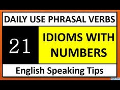Daily Use Phrasal Verbs For Students English Tips, Learn English, Common Idioms, Students, Learning, Youtube, Learning English, Study, Youtubers