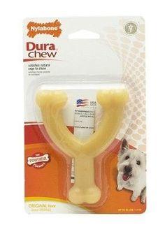 DOG TOYS - RUBBER AND PLASTIC - NYLABONE DURA CHEW WISHBONE - REGULAR - ORIGINAL - CENTRAL - TFH PUBLICATIONS - UPC: 18214999058 - DEPT: DOG PRODUCTS