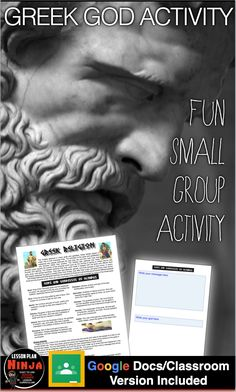 This fun Greek Gods Small Group Activity helps students remember, practice and apply their knowledge of 11 Greek gods and goddess by presenting scenarios to the class. History Lesson Plans, World History Lessons, Teaching Social Studies, Teaching History, Small Group Activities, Greek Gods And Goddesses, Ancient Greece, Small Groups, Knowledge