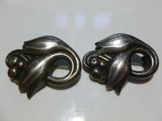 Georg Jensen 100 A Sterling Silver Made in USA Tulip Flower Brooch Pin   eBay