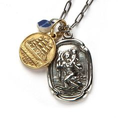 """""""The Traveler"""" by RockLove Jewelry #inkedshop #thetraveler #necklace #charms"""
